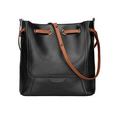 S-ZONE Fashion Genuine Leather Tote Shoulder Handbag Crossbody Purse Brand: S-ZONE Department: Women Dimension(L*W*H):10.3'X3.9'X9.8' Weight: 0.6kg/1.32lb Style: Shoulder bagHandbagsCrossbody Bag M...