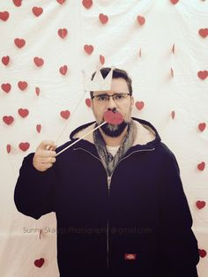 Valentine's Photo Booth 2015 and my lovely assistant :)