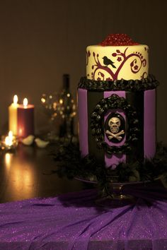 """Gothic Wedding Cake - This cake makes me so happy to share with you, as it was my first cake ever published in a Cake Central Magazine!! (Volume 3 Issue 9) Cake Central provided me an inspiration board, and my theme was """"Gothic Wedding"""" all elements are edible and hand made!! Thank you again Cake Central, for the opportunity!! http://cakecentralmagazine.com/volume-3-issue-9/"""