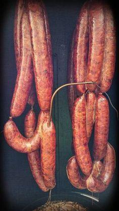Photo smoked duck sausage