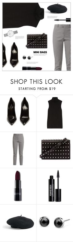 """Mini Bags"" by arwitaa on Polyvore featuring Yves Saint Laurent, The Row, Altuzarra, Alexander Wang, Edward Bess, Venus and Daniel Wellington"