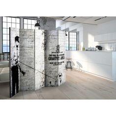 Banksy Graffiti, Decoration Originale, Lofts, Street Art, Divider, Floor Plans, Wall, Furniture, Home Decor