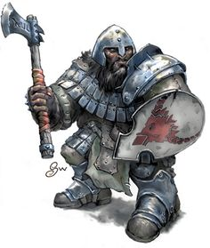 Classic Dungeons and Dragons dwarf