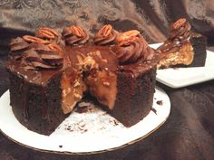 TURTLE SENSATION DEEP DISH BROWNIE. Nothing beats a delicious chocolate and caramel turtle dessert. Shop online www.soulfullyyoursonlinebakery.com