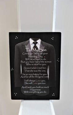 Engagement Gift for Son Son Wedding Gift Engagement Gift Wedding Day Wishes, Wedding Day Quotes, On Your Wedding Day, Wedding Gifts, Wedding Things, My Son Quotes, My Children Quotes, Sign Quotes, Engagement Gifts For Him
