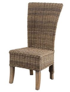 Pair of Rattan Dining Chairs - - Hicks and Hicks Rattan Dining Chairs, Rattan Furniture, Living Room Chairs, Cream Cushions, Wingback Armchair, Occasional Chairs, Club Chairs, Soft Furnishings, Vintage Leather