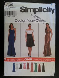 Simplicity 7936 Misses Design Your Own by Noahslady4Patterns