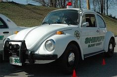 """This Bug, seized in a DUI, has been transformed into a Police Cruiser. But don't let the name, """"Bug-erceptor"""" fool you. It's not an interceptor. You won't be getting pulled over by this cop car unless you're on a bicycle. At a top speed of 70 MPH, this Bug will be seeing action only in parades and schools."""