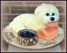 Maltese puppy cake - Cake by The Sugarpaste Fairy
