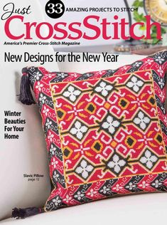 Just Cross Stitch - 2015 Issue January/February - Cross Stitch Magazine Cross Stitch Magazines, Cross Stitch Books, Just Cross Stitch, Cross Stitch Patterns, Pattern Blocks, Quilt Patterns, All People Quilt, Birdhouse Designs, New Year Designs