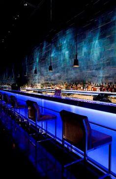 Bar-The new Hakkasan restaurant in Abu Dhabi by Firefly Lighting Design Restaurant Bar, Restaurant Lighting, Bar Lighting, Restaurant Design, Lighting Design, Lighting Ideas, Lounge Design, Bar Lounge, Cafe Design