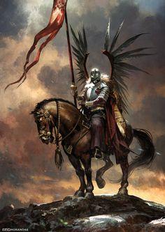 My favorite creepy fantasy art Fantasy Kunst, Dark Fantasy Art, Fantasy Artwork, Fantasy Warrior, Fantasy Character Design, Character Art, Armadura Medieval, Knight Art, Warhammer Fantasy