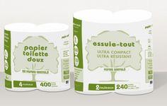 emballage éco-conçu papier recyclé essuis-tout pour ADOM