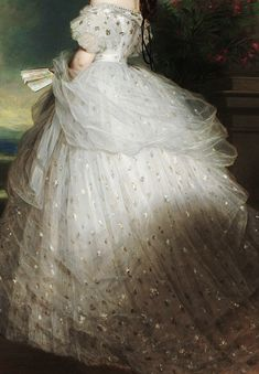 INCREDIBLE DRESSES IN art Elisabeth of Bavaria, Empress of Austria by Franz Xaver Winterhalter, 1865