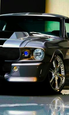 Look at those rims! What a car! Check out this Ford Mustang Shelby in all of its glory by hitting the link OOOOH WEEEE that is a car Ford Mustang Eleanor, Ford Mustang Shelby Gt500, Mustang Cars, Shelby Eleanor, Ford Mustangs, Maserati, Bugatti, Lamborghini, Ford 2000