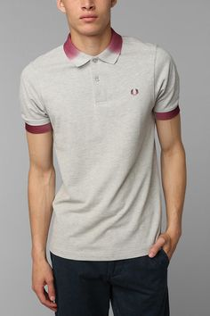 Urban Outfitters - Fred Perry Gradient Collar Polo Shirt