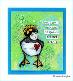 Card by Flo using Alice Palace stamps and more