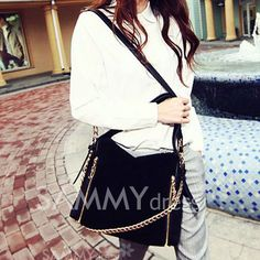 $11.62 Fashion Women's Crossbody Bag With Chain and Zipper Design