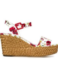 daisy and poppy print sandals