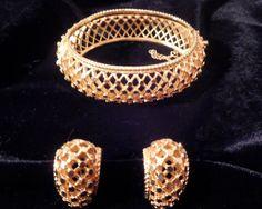Boucher Clamper Bracelet with matching by LaytonandEverett on Etsy, $105.00