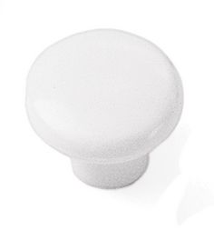 Laurey Cabinet Knobs, 1 1/4 inches Plastic Knob - White