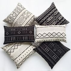 Decorative Throw Lumbar Pillow Case Africa MUD CLOTH Print Bogolan Cushion Cover #HOF #African