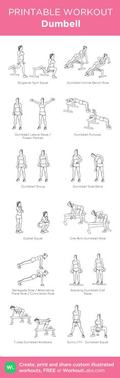 Dumbell: my visual workout created at WorkoutLabs.com • Click through to customize and download as a FREE PDF! #customworkout