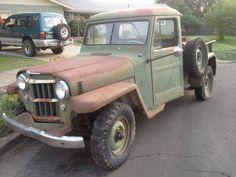 Jeep Pickup Truck, Vintage Pickup Trucks, Antique Trucks, Lifted Ford Trucks, Small Trucks, Cool Trucks, Jeep Rat Rod, Rat Rods, Old Jeep