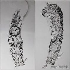 Explore tattoo man tattoo art and more sleeve full sleeves tatoo tattoo Half Sleeve Tattoos Designs, Arm Sleeve Tattoos, Tattoos Skull, Sleeve Tattoos For Women, Tattoo Designs For Women, Body Art Tattoos, Tribal Tattoos, Jesus Tattoo Sleeve, Cloud Tattoo Sleeve