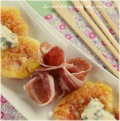 Higos con jamón ibérico y queso azul #jamonIberico #recetasCocina