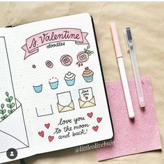 31 Simple Doodles You Can Easily Copy in Your Bullet Journal - Simple Life of a Lady Bullet Journal Banner, Bullet Journal Aesthetic, Bullet Journal Notebook, Bullet Journal Ideas Pages, Bullet Journal Inspiration, Simple Doodles, Cute Doodles, Doodle Drawings, Easy Drawings
