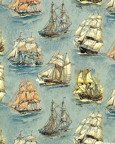 Sailing Ships - World Explorers - Gray Blue