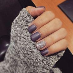 Purple matte nails Nail Design, Nail Art, Nail Salon, Irvine, Newport Beach… http://hubz.info/113/stunning-wedding-nail-art-desgins