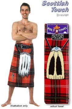 Scottish towel so genius