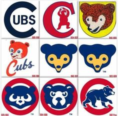 Cubbies over the years MLB Chicago Cubs Logo, Chicago Cubs Baseball, Tigers Baseball, Chicago Blackhawks, Chicago Bears, Baseball Bats, Baseball Stuff, Baseball Players, Hockey