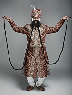 Ram Singh Chauhan started growing his mustache in 1970, and hasn't cut it since. Today it measures over 4.30 meters, and the proud Indian man from Rajasthan holds the Guinness record for World's Longest Mustache.