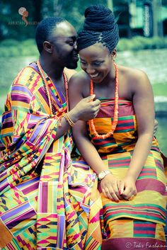 Ghana. Ashanti Region. Traditional. Wedding. Kente-- #Ghanian African Wedding #Africa