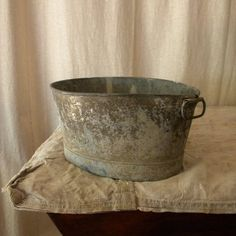 french rustic decor | Rustic zinc basin vintage French country decor | For the Home