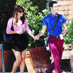 Darren and Lea at the set of Glee today. 9/18/14