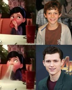 Tom Holland Glow Up - Pixfamous Funny Marvel Memes, Dc Memes, Marvel Jokes, Funny Memes, Siper Man, Tom Holand, Tom Holland Peter Parker, Tommy Boy, All Time Low
