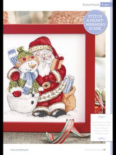 Festive Friends by Alessandro  The World of Cross Stitching  Issue 236 December 2015 Zinio Saved