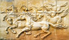 Peel and Stick Wall Mural - Stone Sculpture of Horse Wall Mural - Reposition-able and Removable WallPaper - Wall Covering - Horse Mural Roman Sculpture, Horse Sculpture, Stone Sculpture, Wall Sculptures, Horse Mural, Horse Wall Decals, Horse Art, Horse Wallpaper, Photo Wallpaper
