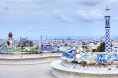 size: Photographic Print: Park Guell Terrace, Barcelona, Spain by Rob Tilley : World Trade, Travel And Leisure, Culture Travel, Spain Travel, Top Photo, Paris Skyline, The Good Place, Terrace, Taj Mahal