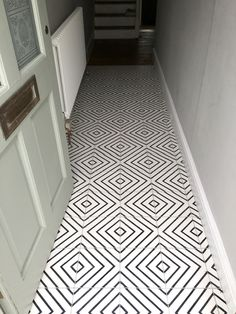 Black and White encaustic cement tile - Herald B&W - a pattern that offers many design possibilities. #concentric #squares #chevrons