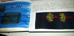 Student MD #culture #chinese #sketchbook #lanterns #machineembroidery #experimentation