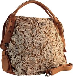 Lace and Leather Bag