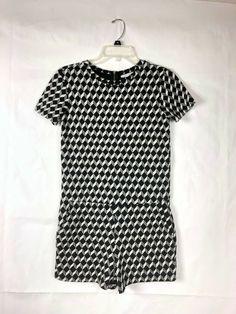 2dc2ef85b87382 Zara Trafaluc Women's Black & White Romper Size S Short Sleeve Overall  33 #Zara