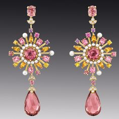Chanel Soleil Pastel Earrings.  wow......these would be so lovely with darker hair I am thinking.