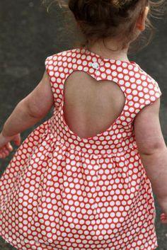 jurk met open hart achter