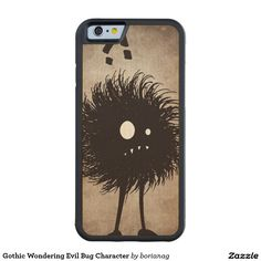 #Gothic Wondering #Evil Bug Character Carved® Maple #iPhone 6 Bumper #Case #iphonecase